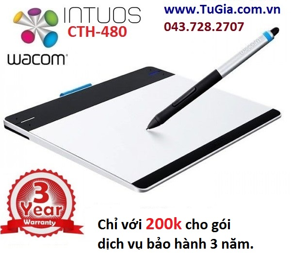 Wacom Intuos CTH-480 -  Intuos Pen & Touch Tablet